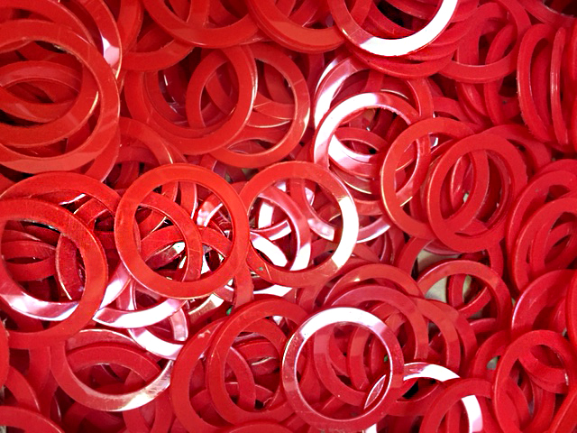 Nylon Washers - Red Nylon Washers - RH Nuttall Ltd
